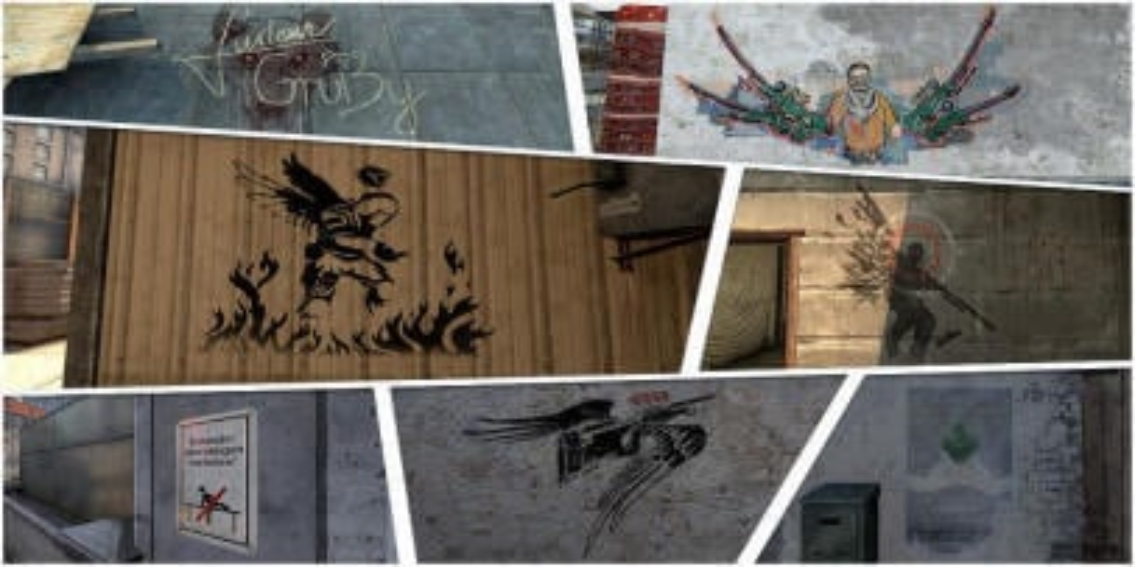 History of memorable graffiti CS:GO