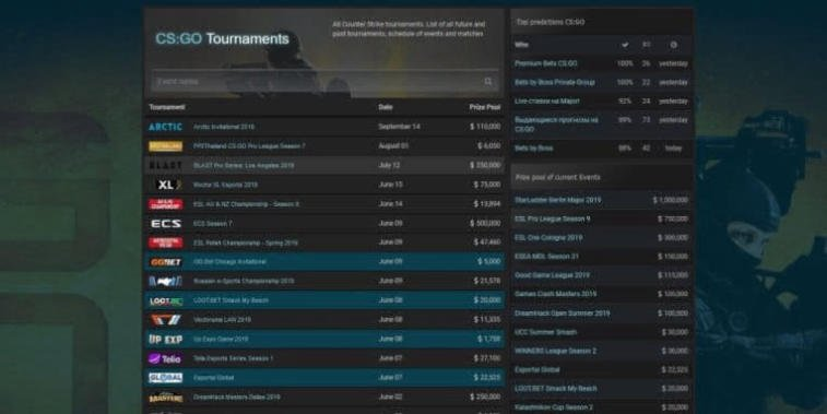 Review of the esports site Game-Tournaments.com. Photo 1