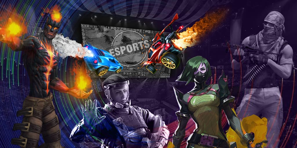 Rogue and compLexity Gaming at the final of ECS Season 7 North America Week 1